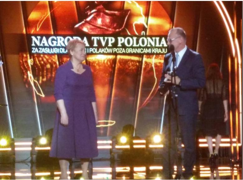 """25 kwietnia Gala TVPpolonia """"Nagrody za Zasługi dla Polski i Polaków poza Granicami Kraju""""."""