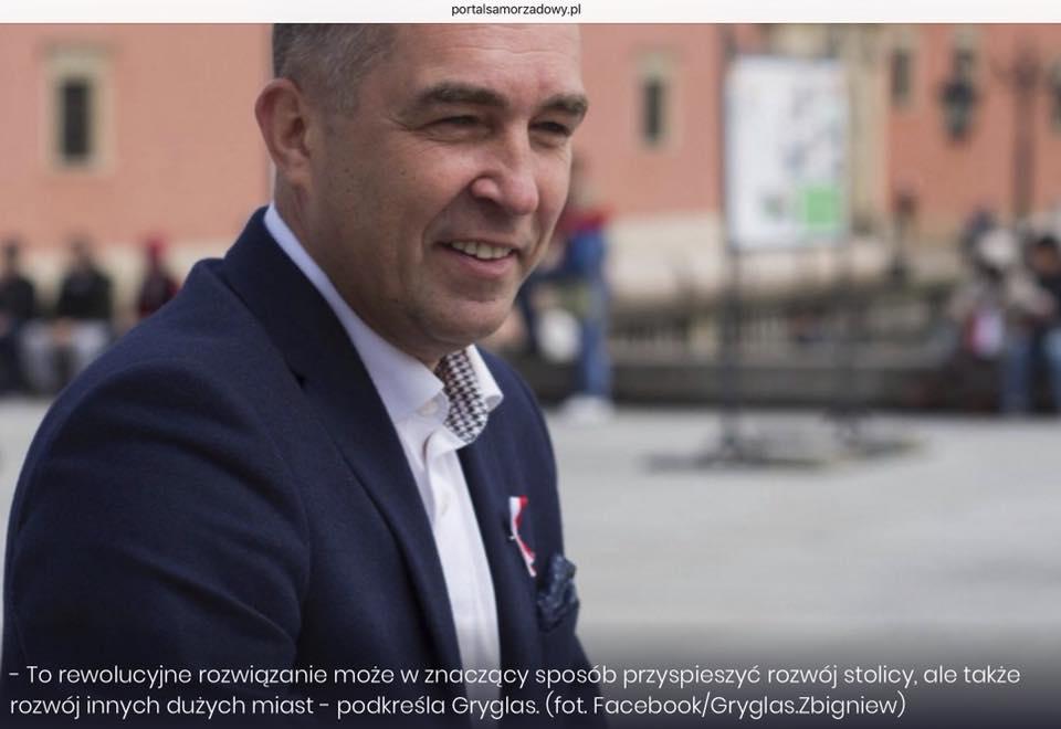 Zbigniew Gryglas powołuje kolejny Zespół Parlamentarny. Rewolucyjny Pomysł na Warszawę!